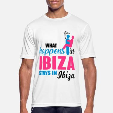 Ibiza Ibiza what happens there - Sports T-shirt mænd