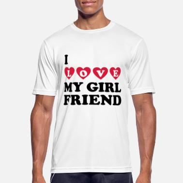 I Love My Girlfriend I love my girlfriend - Mannen sport T-shirt