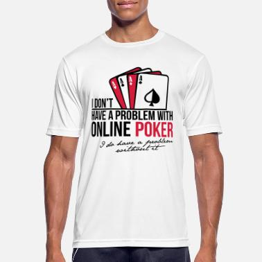 Clubs Grappige Online Internet Poker Players - Mannen sport T-shirt