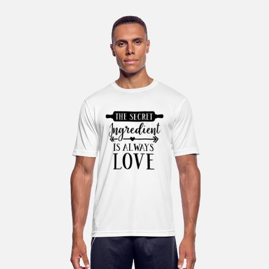 Love T-Shirts - The Secret Ingredient Is love - Men's Sport T-Shirt white