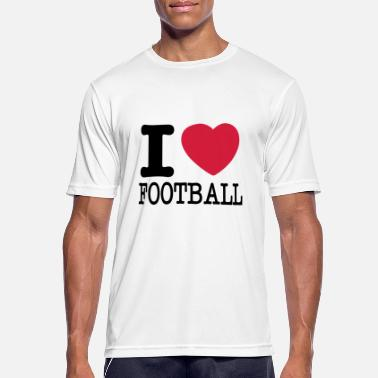 I Love Football i love football / Ik hou van football - Mannen sport T-shirt