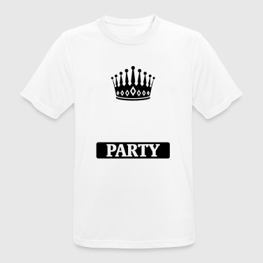 BACHELOR PARTY BLANCO SHIRT! (HIER UW TEKST) - mannen T-shirt ademend