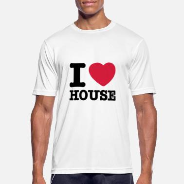 I Love House i love house / I heart house - Sport T-skjorte for menn