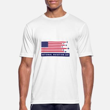 Nationale Spiele National Aviation day - Männer Sport T-Shirt