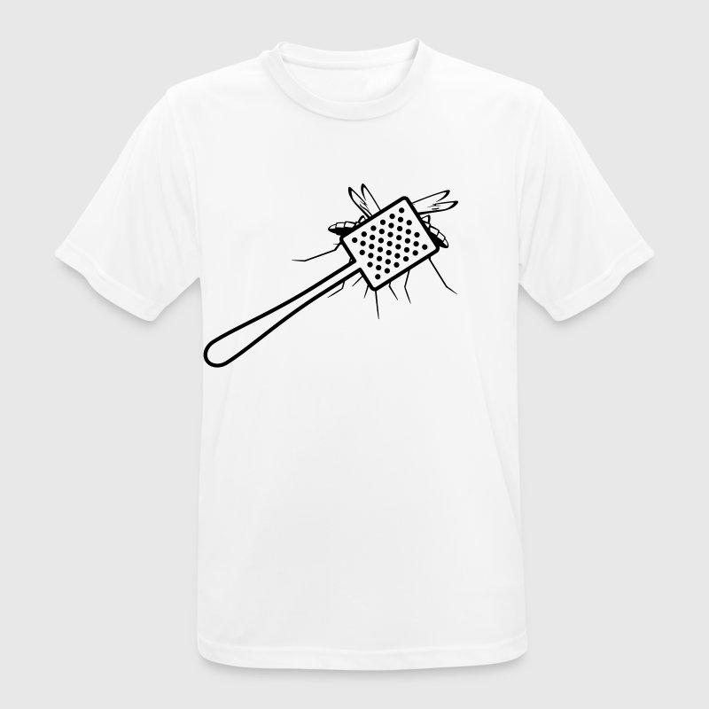 A fly swatter kills a mosquito - Men's Breathable T-Shirt