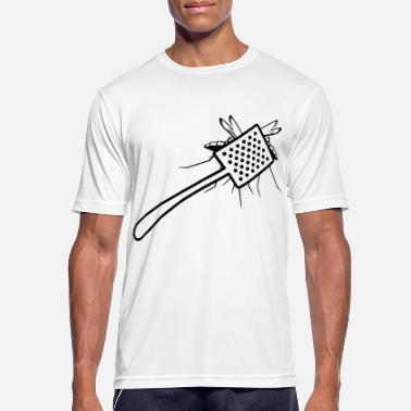 Mosquito A fly swatter kills a mosquito - Men's Breathable T-Shirt