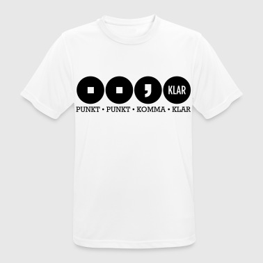 Dot dot comma Clear - Men's Breathable T-Shirt