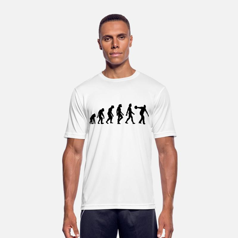 Bowling T-Shirts - The Evolution of Bowling - Men's Sport T-Shirt white