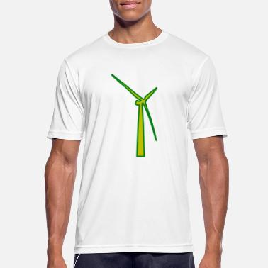 Turbine windmill windmuehle wind turbine windrad31 - Männer T-Shirt atmungsaktiv