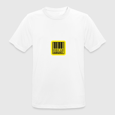 under new management mit Barcode - Männer T-Shirt atmungsaktiv