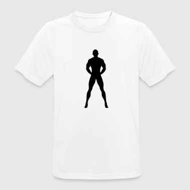 Naked and Muscular man - Men's Breathable T-Shirt