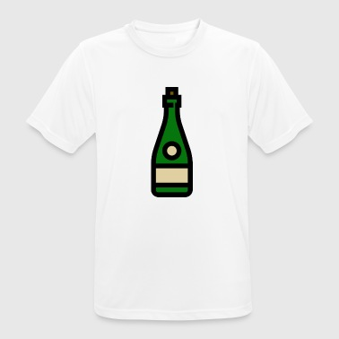 Champagneglas Champagne-glas, mousserende wijn, champagneglas - mannen T-shirt ademend