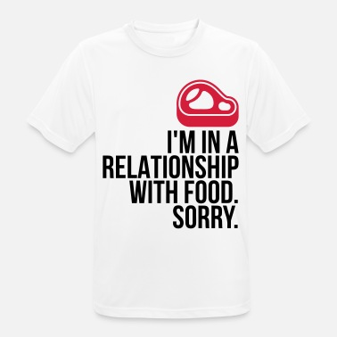 Michelin I am in a relationship with food - Men's Breathable T-Shirt