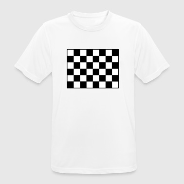 Dambord Schaak beweging Chess Game Gift - mannen T-shirt ademend