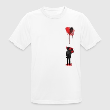Sad Heart / Bleeding Rain - Men's Breathable T-Shirt