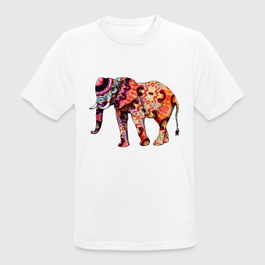 Colorful Serengeti Colorful elephant - Men's Breathable T-Shirt