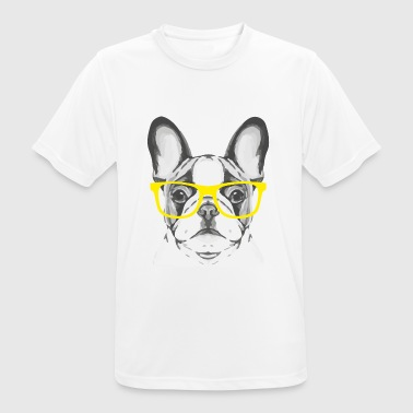 French Bulldog Yellow Glasses - Men's Breathable T-Shirt