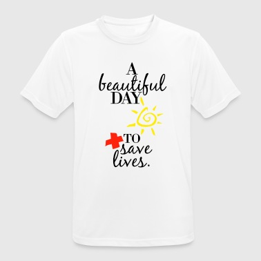 Greys Anatomy A Beautiful Day to Save Lives Quote - Men's Breathable T-Shirt