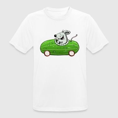 Olle Mouse drives ne olle cucumber - car - cars - funny - Men's Breathable T-Shirt