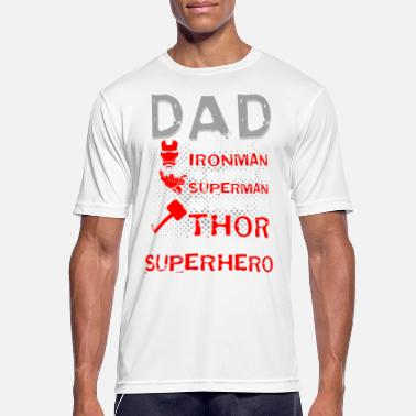 Super DAD SUPER HERO Design - Men's Breathable T-Shirt