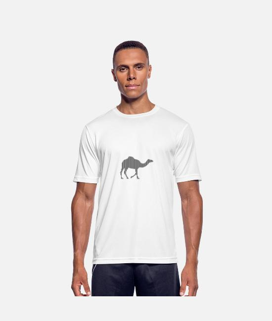 Zoo Animal T-Shirts - dromedary - Men's Sport T-Shirt white