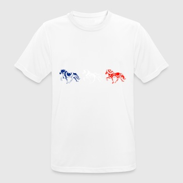 tölt Icelandic horses - right - Men's Breathable T-Shirt