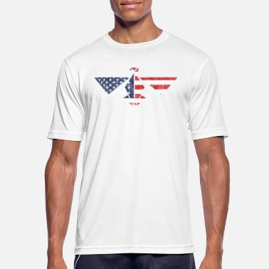 Spread Eagle Eagle USA flag, spread the wings and take off! - Men's Breathable T-Shirt