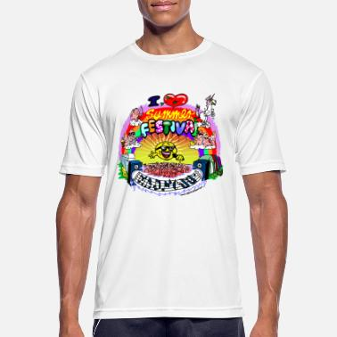 Festival I LOVE summer festival madness - Men's Sport T-Shirt