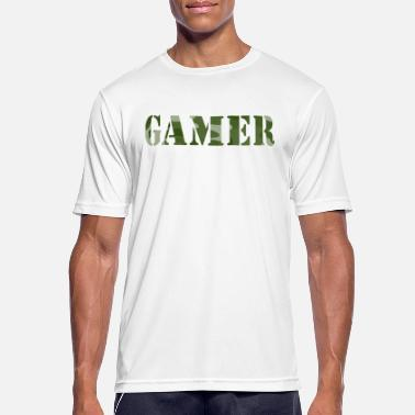 Shoot Em Up Gamer Camouflage Player Console PC Online - Sport T-skjorte for menn