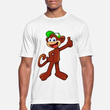 Cappi Monkey with green cappy gift idea - Men's Breathable T-Shirt
