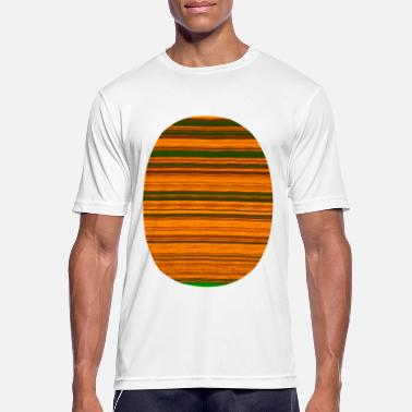 Oval Window Fraktal remsa oval - Sport T-shirt herr