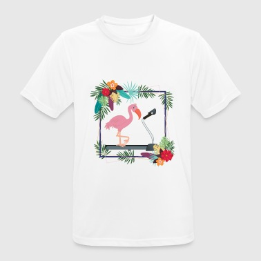 Treadmill Flamingo on Treadmill - Men's Breathable T-Shirt