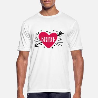 Gruppensprüche Bride Heart Design Matchende bryllupsmotiver grupper - Sport T-skjorte for menn