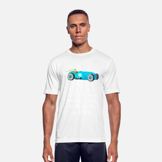 Engineer T-Shirts - Motorsport: Starting the engine sounds different - Men's Sport T-Shirt white