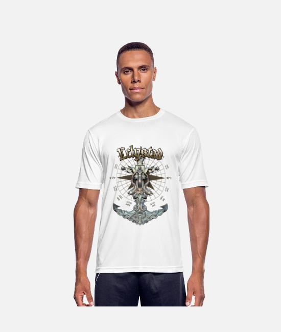 Diver T-Shirts - Lelystad Anchor Nautical Sailing Boat Summer - Men's Sport T-Shirt white