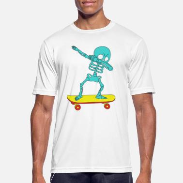 Skater Boy Funny & Cool Tshirt Design Skeleton Skater Dab - Men's Breathable T-Shirt