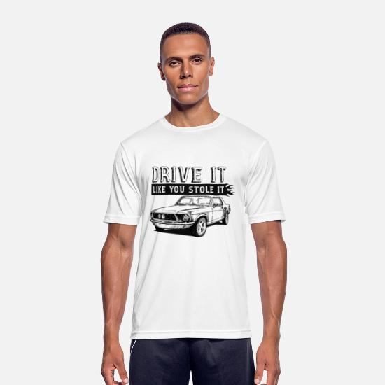 Bikes T-shirts - Drive It - Coupe - Sport T-shirt herr vit