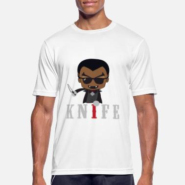 Knife Party Idea de regalo de Little Knife / Daywalker Vampire Teen - Camiseta deportiva hombre