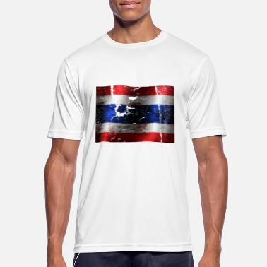 Thailand Vintage Thailand flag cool vintage used sport look - Men's Breathable T-Shirt