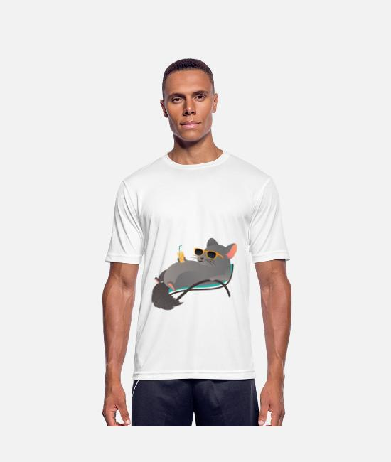 Lui T-shirts - Nope Not Today - Chinchilla Chillin - Mannen sport T-shirt wit
