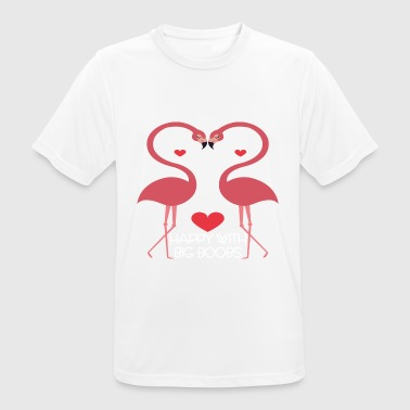 Seine Zoo seins Sex tits boobs chance amour coeur Flamingo - T-shirt respirant Homme