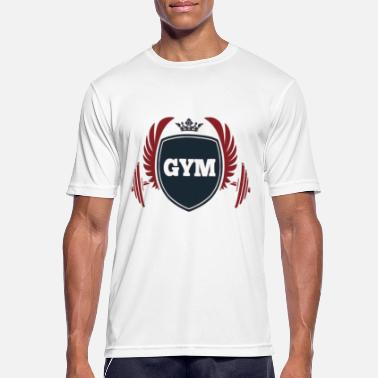 If The Crown Fits Gym fitness with crown and barbell - Men's Breathable T-Shirt