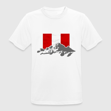 Per- Mountains & Flag - Camiseta hombre transpirable