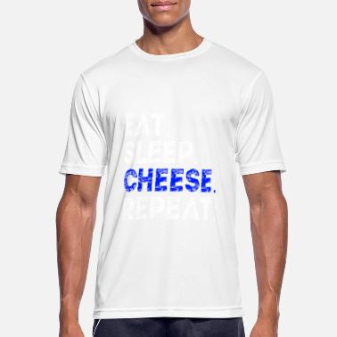 eat sleep cheese repeat cheese lover gift idea - Men's Sport T-Shirt