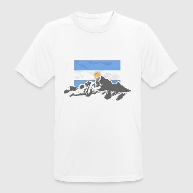 Argentina - Mountains & Flag - Men's Breathable T-Shirt