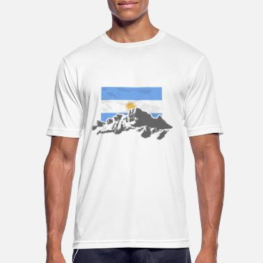 Patagonia Argentina - Mountains & Flag - Men's Breathable T-Shirt