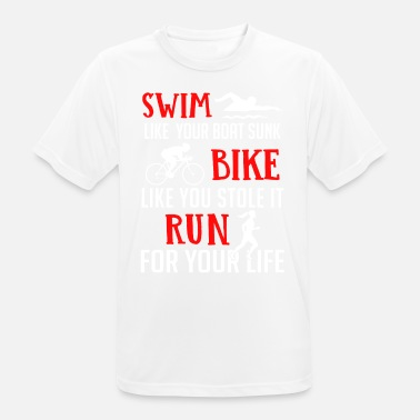 Biking Triathlon Triathlon - Swim Bike Run - Men's Breathable T-Shirt