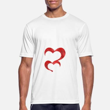 Double Entendre Double heart - Men's Sport T-Shirt