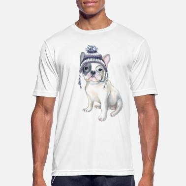 19d9c65d Frenchie French Bulldog Toque Beanie monocle Dogs - Men's Sport T-