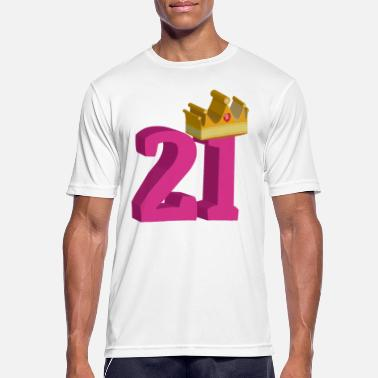 Crown Birthday 21st Birthday Crown - Men's Breathable T-Shirt